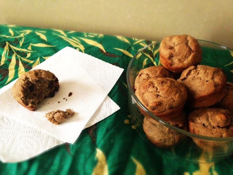Gluten-free-banana-buckwheat-carob-muffins