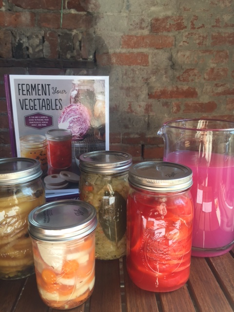 A few of Amanda's colorful ferments. Recipes found in Ferment Your Vegetables.