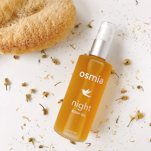 Osmia Night Body Oil— relaxing to the nervous system and so restorative to your skin.