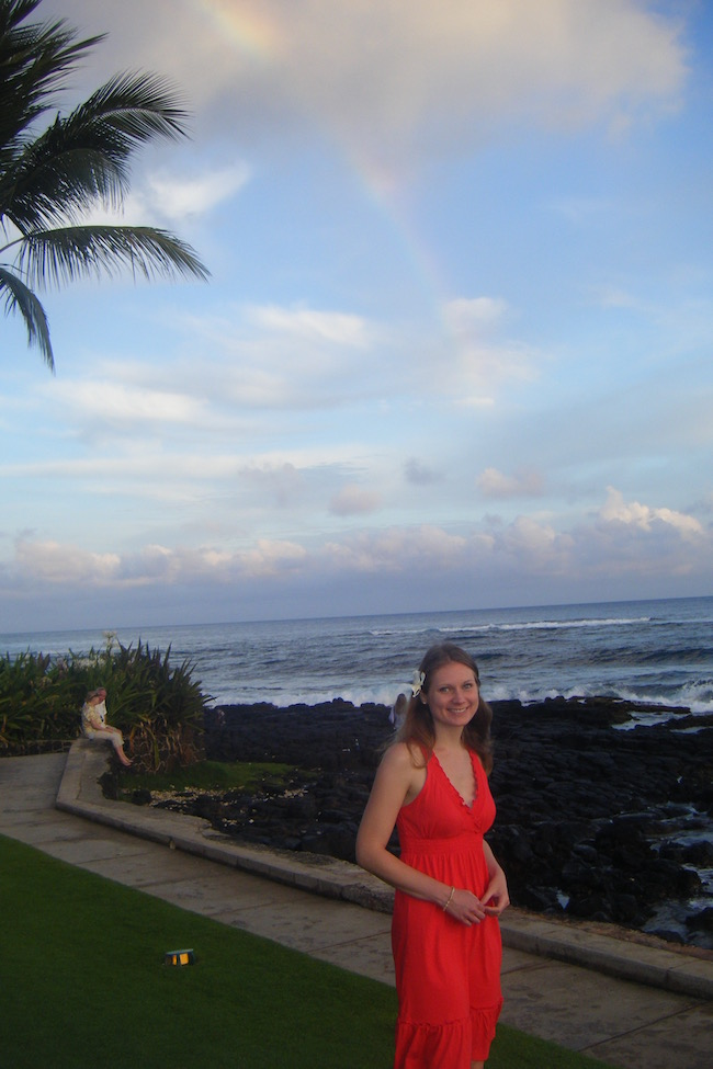 Hawaii and one of its many rainbows, in 2011.