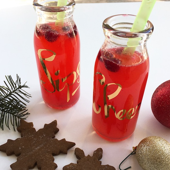 Cranberry-Kiwi Bubbles