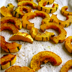 Honey Cardamom Delicata Squash