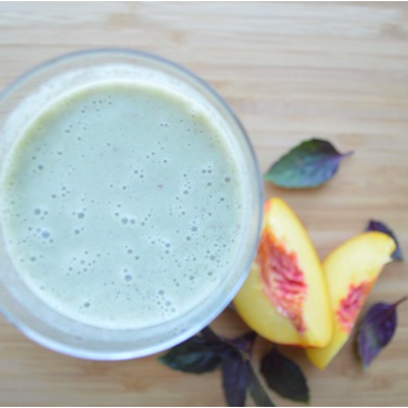 Nectarine & Purple Basil Smoothie