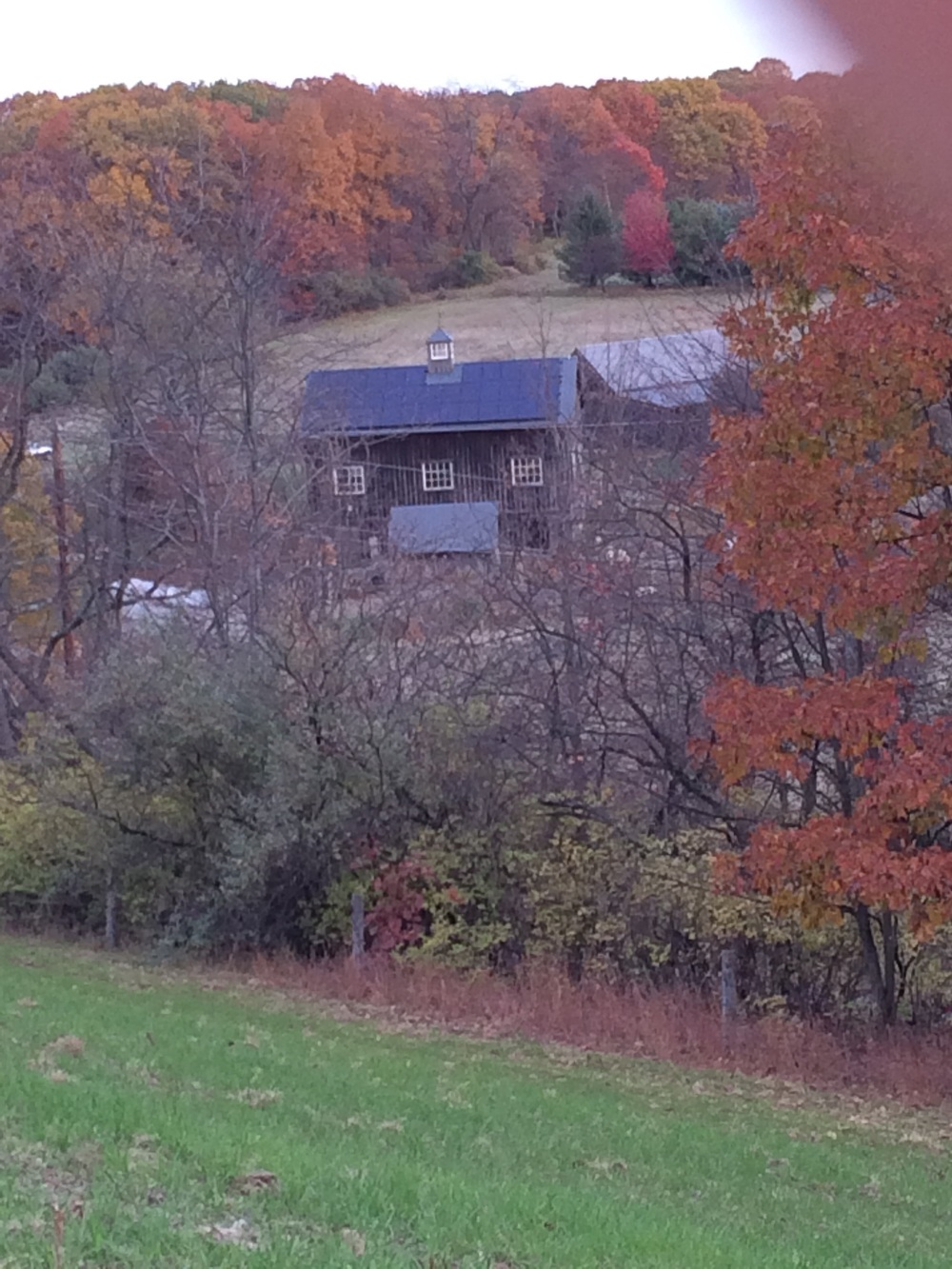 The Boat Barn sits across the drive, behind and a little to the right of the Barn.