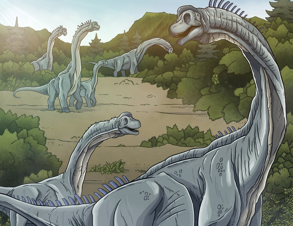 Brachiosaurus herd.
