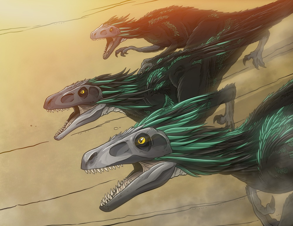 Dromaeosaurs! Run for your life!