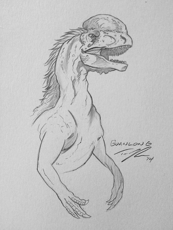 An early T.rex ancestor, Guanlong.
