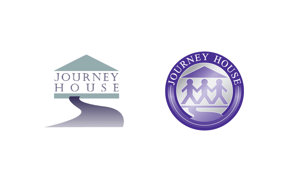 Journey House's old logo (left), new design (right)
