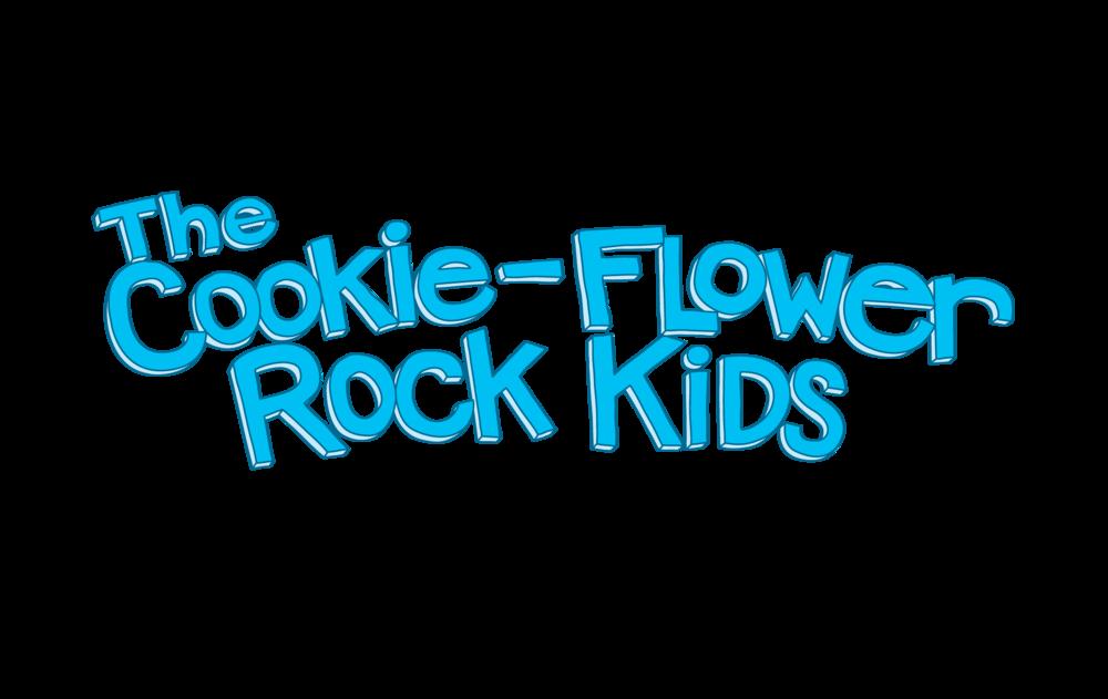 The Cookie-Flower Rock Kids Logo