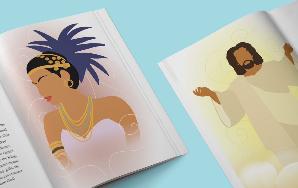 Character Illustrations: Makeda and Jesus