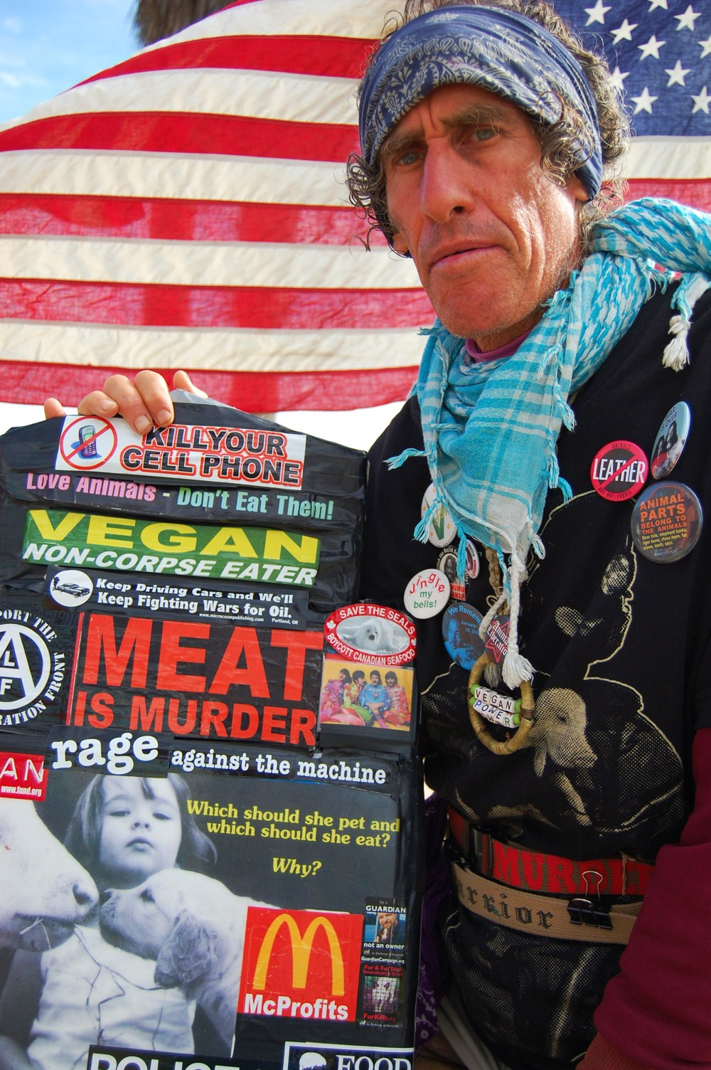 Meat is Murder. Photo selected for an exhibition, Latin American Visions of LA, by ADC Contemporary Art & Building Bridges International Art Exchange in Santa Monica, California.