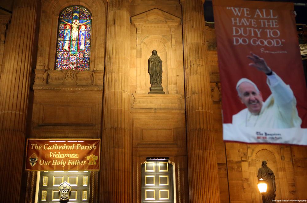 La Catedral Basílica de San Pedro y San Pablo donde el papa Francisco celebró una misa en Filadelfia.