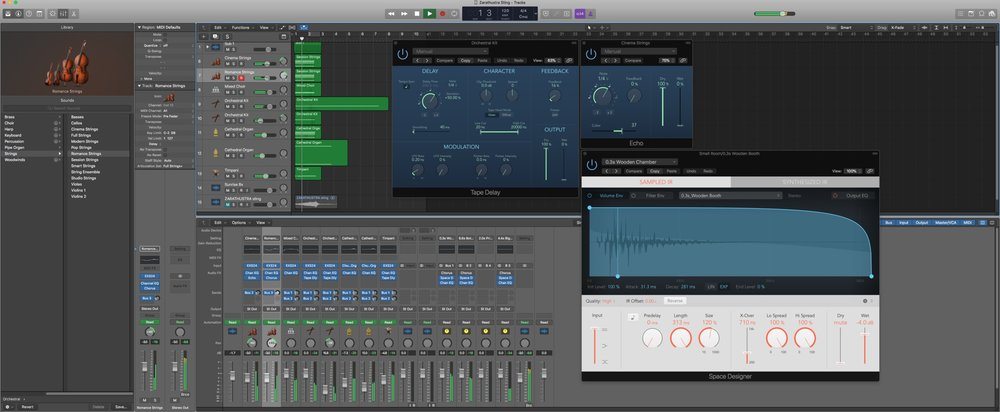 Rebuilding the iconic crescendo within Logic Pro X