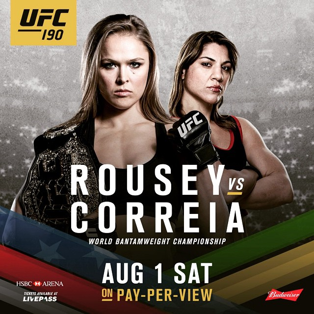What are we thinking grapplers? Is Ronda collecting more limbs for her trophy case or could we see the upset of the year?? #bjj #mma #ufc #ufc190 #brazilianjiujitsu #judo #grapplers #rousey #correia