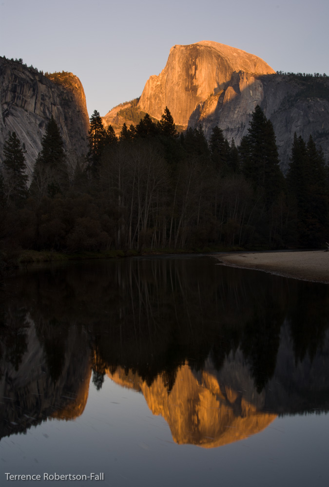 Sunset over Half Dome, Yosemite National Park by Terrence Robertson-Fall
