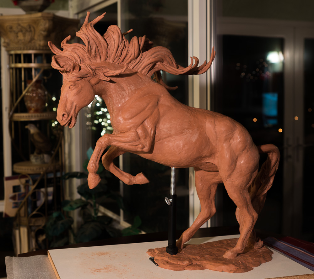Running Free Horse - work in progress by Terrence Robertson-Fall