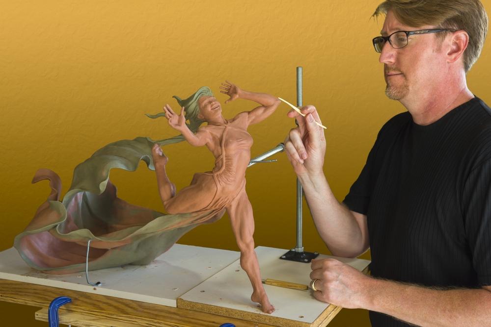 Terry sculpting Running Free Dancer