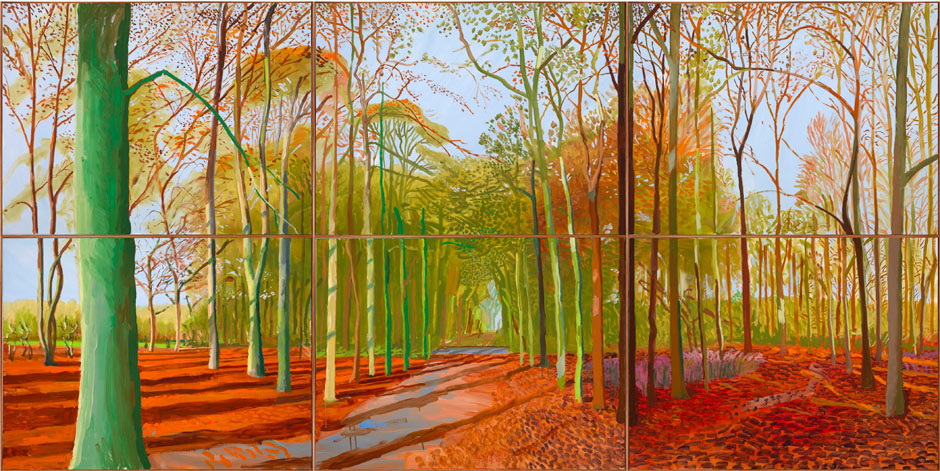 Woldgate Woods, 21, 23 & 29 November 2006,   © David Hockney; Photo Credit: Richard Schmidt