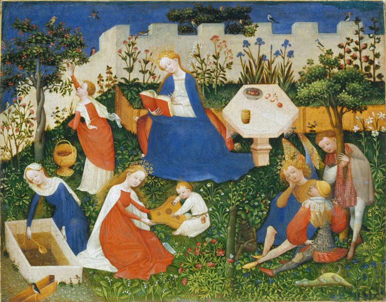 Paradijstuintje, ca. 1410-1420, Bovenrijngebied (Straatsburg?). © Boijmans van Beuningen