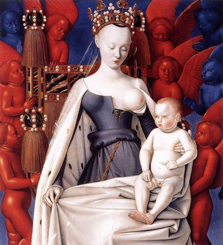 Madonna met kind (1452), Jean Fouquet, ©  Koninklijk Museum voor Schone Kunsten Antwerpen