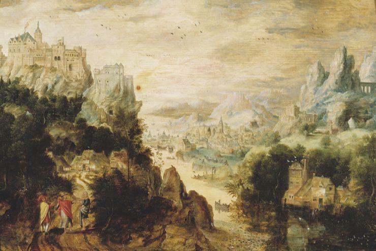 Landschap met Christus en de Emmaüsgangers (ca. 1510-na 1550)  , Henri met de Bles   © Museum Mayer van den Bergh