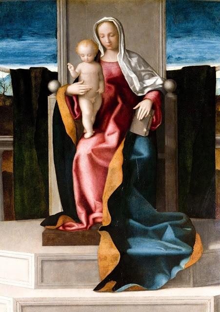 Vierge à l'enfant,Giovanni Bellini, (Venetië, 1430 - Venetië, 1506)