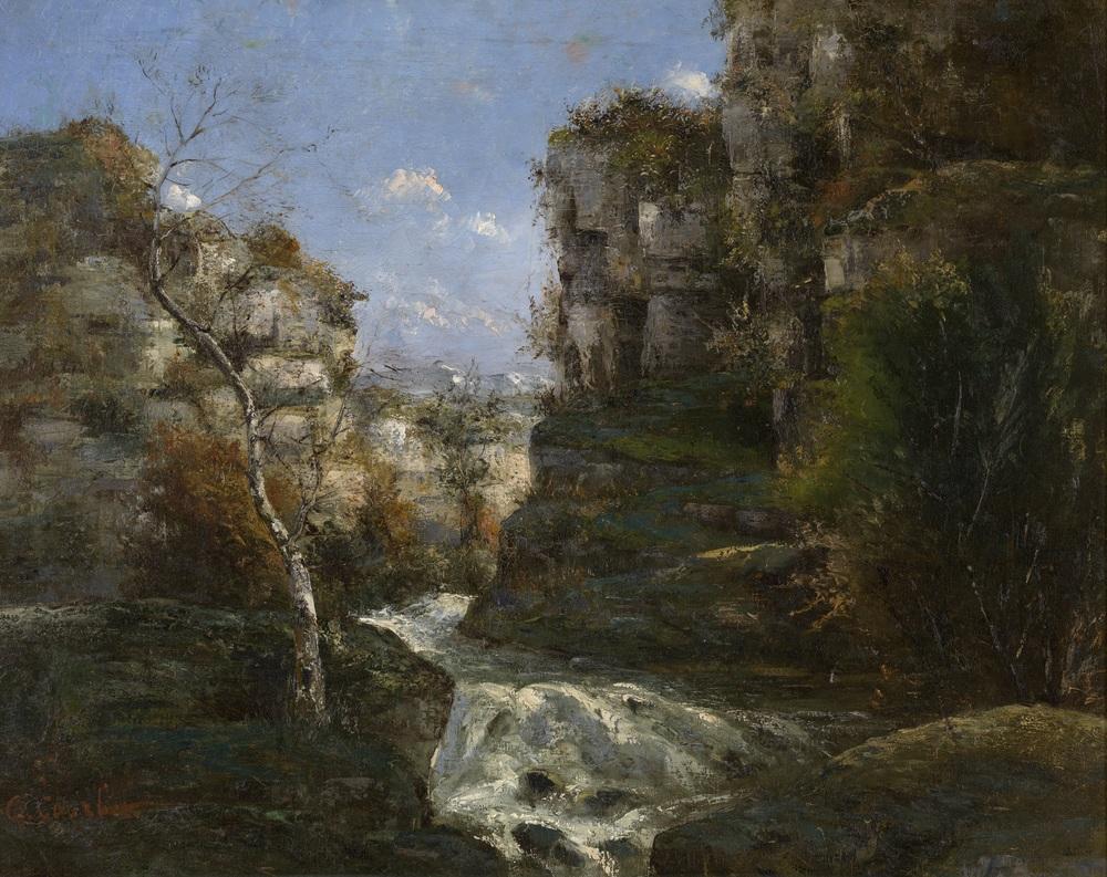 Gustave Courbet, Rotsen in Ornans, zonder datum