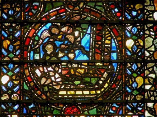 Raam 3, paneel 1: Daniël in de leeuwenkuil