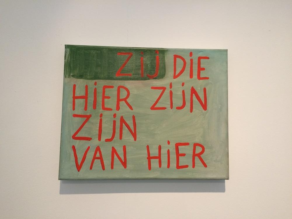Zij die hier zijn zijn van hier , Walter Swennen, 2006, olieverf op doek, 40x50 cm