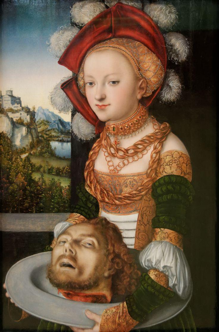 Lucas Cranach de Oude,Salome met het hoofd van Johannes de Doper, 1526-1530