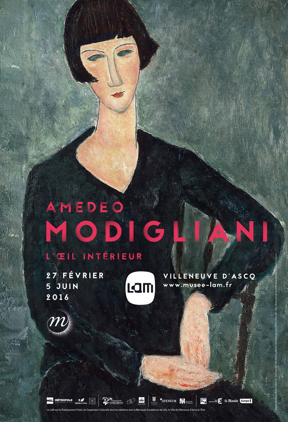 Affiche van de expo L'œil intérieur in het LaM. Nog tot 5 juni!