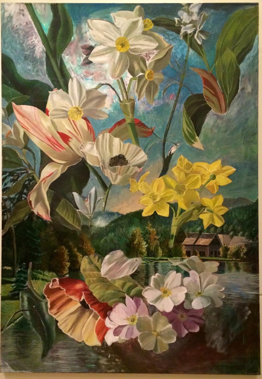 Annemie Von Wulfen, Untitled , 2013, olie op canvas, 200x140 cm,Galerie Meyer Kainer