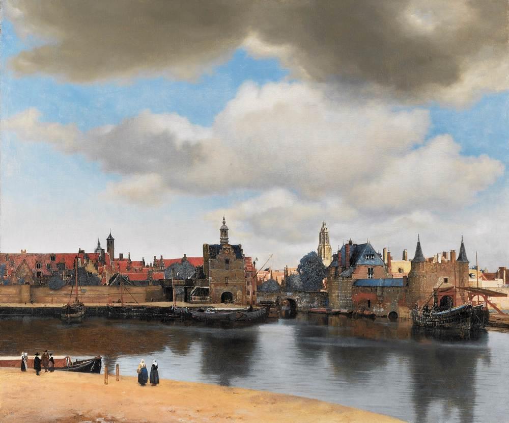 Johannes Vermeer,Gezicht op Delft, ca. 1660-1661 (© Mauritshuis, Den Haag)