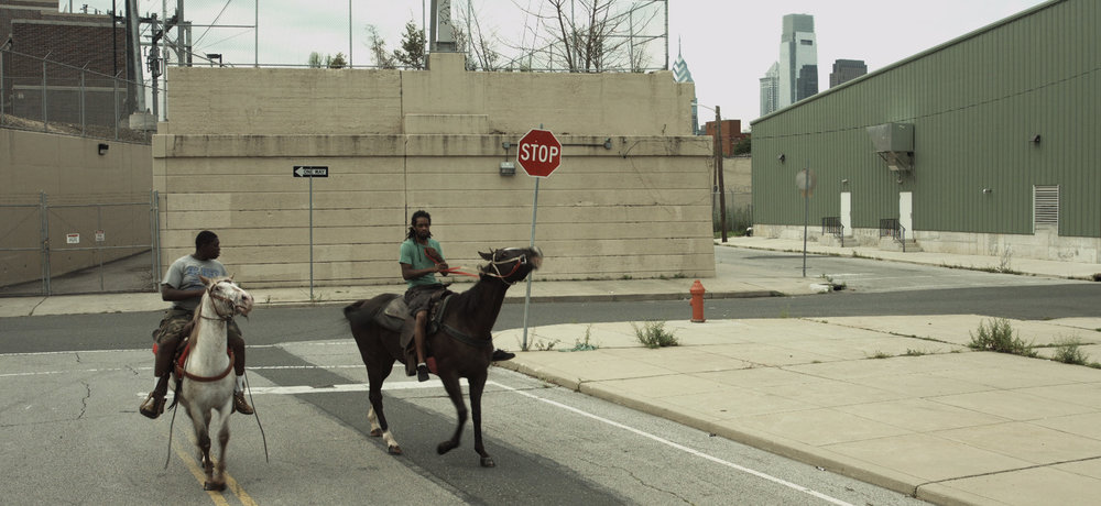 De 'black cowboys' in Philadelphia. © Mohamed Bourouissa