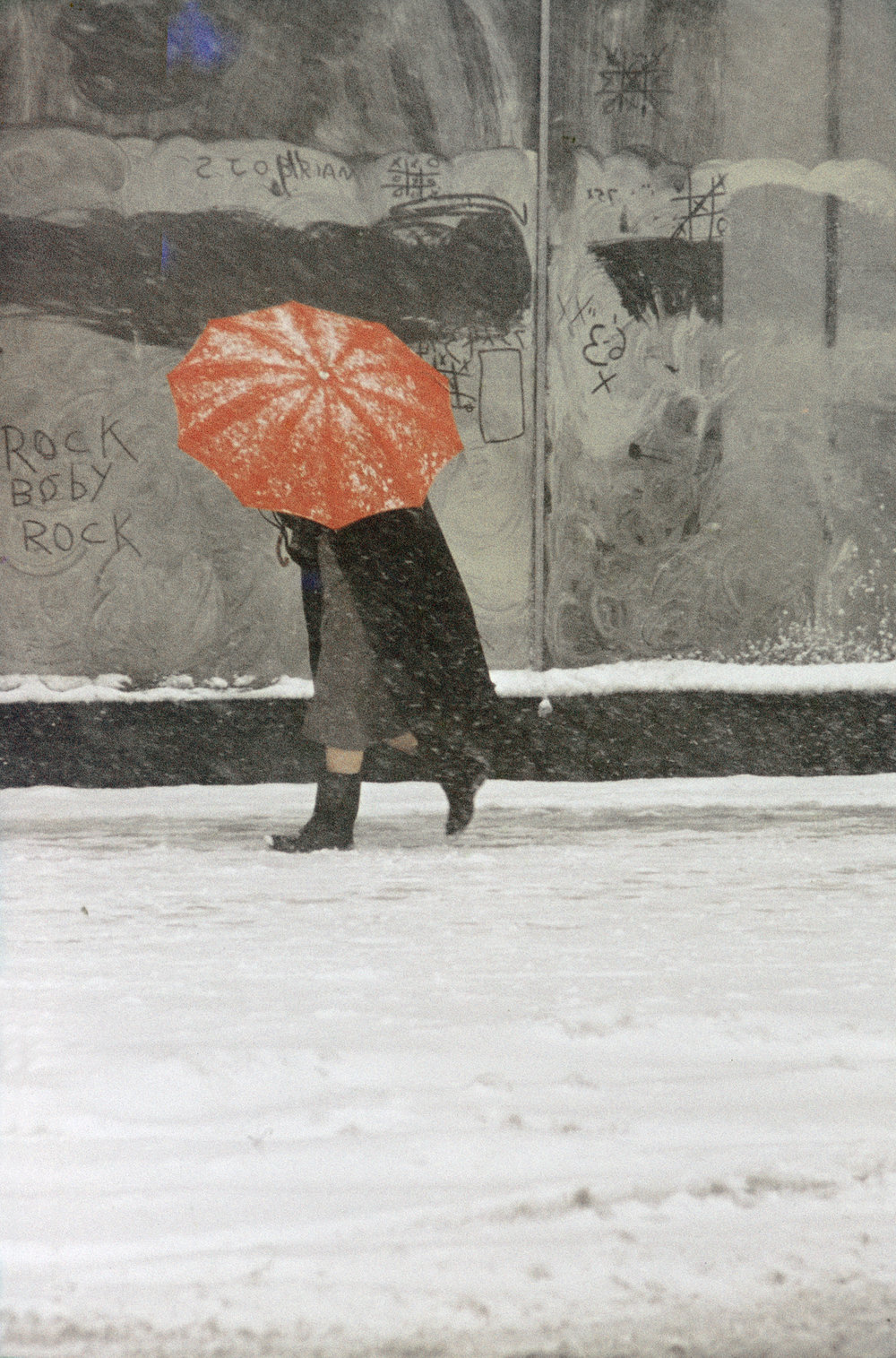 Saul Leiter,  Red Umbrella , 1958, ©The Estate of Saul Leiter.