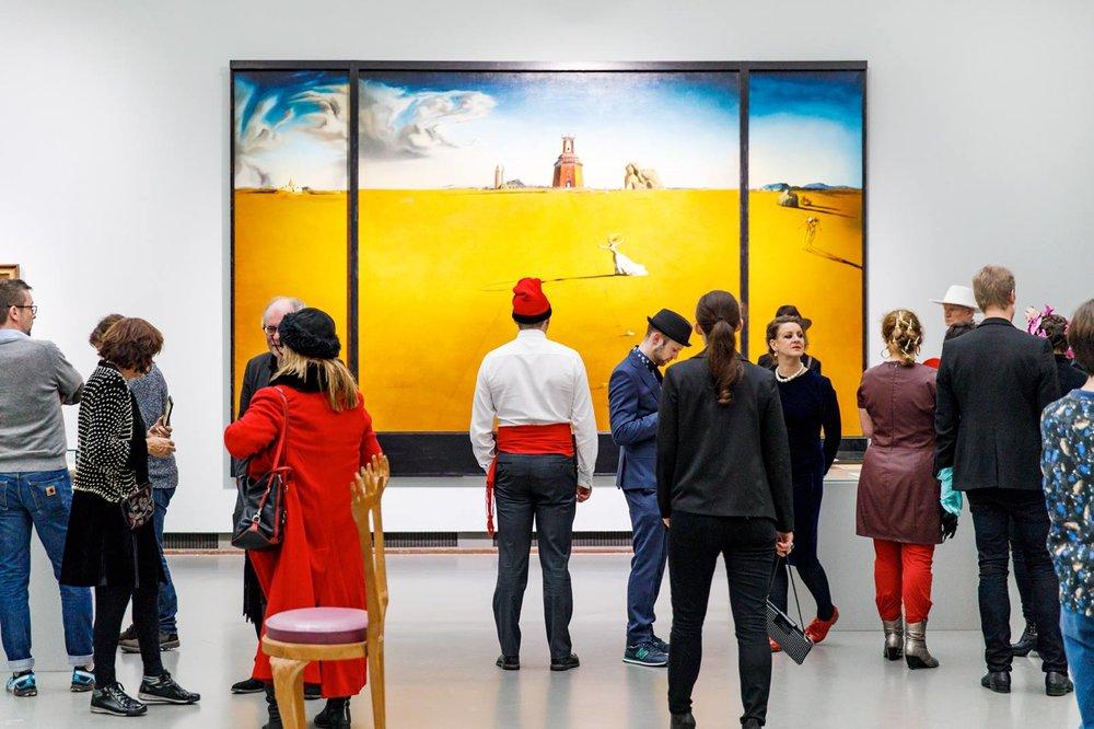 De tentoonstelling 'Gek van surrealisme' opent in Museum Boijmans van Beuningen op 10 februari 2017. © Aad Hoogendoorn.
