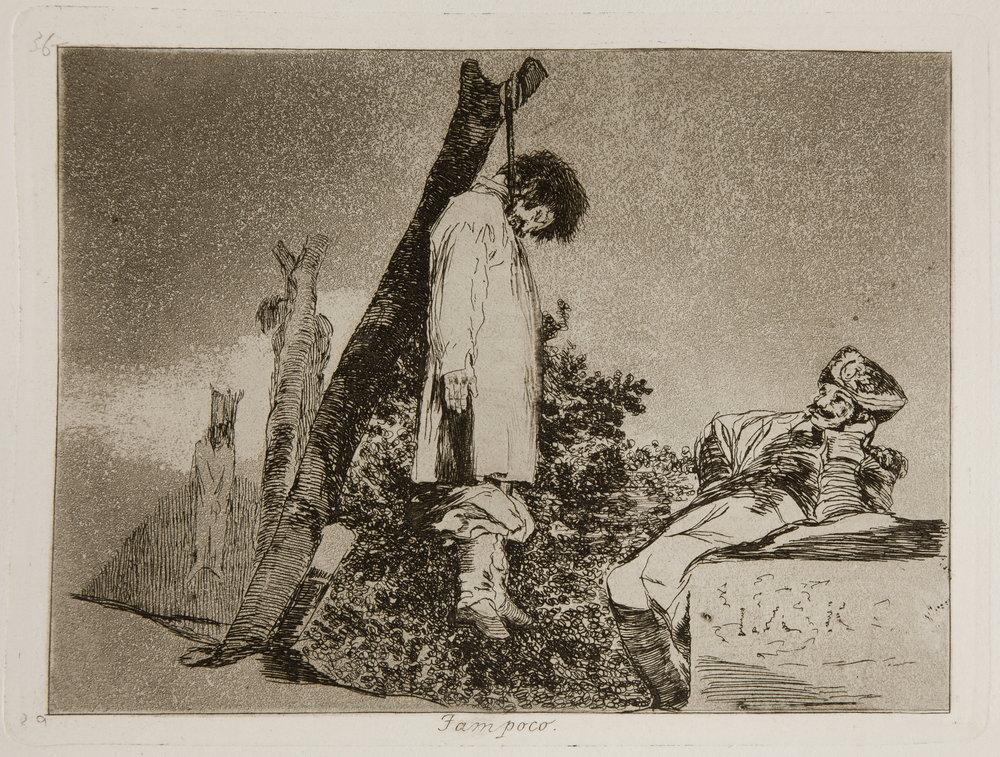 Francisco de Goya, Los Désastres de la Guerra (1810), n. 36: Tampoco.