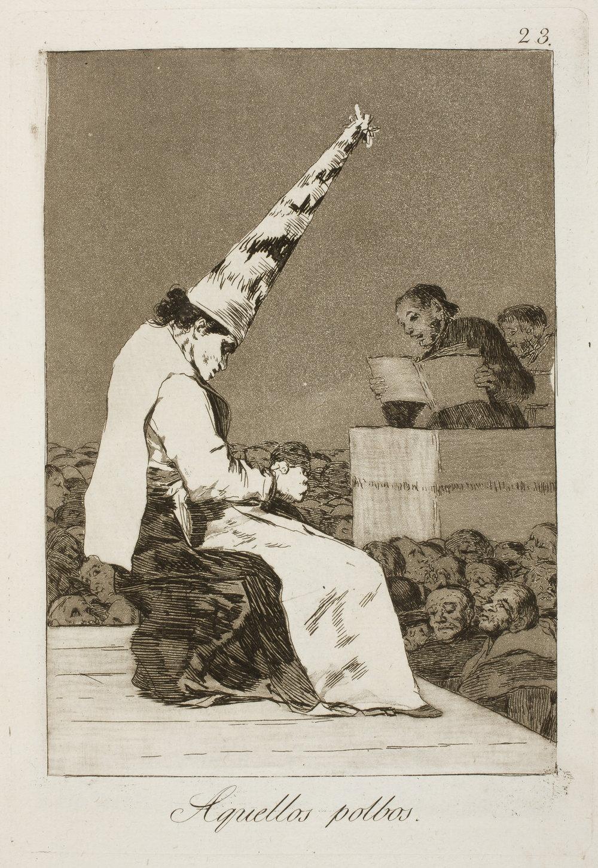 Francisco de Goya, Los Caprichos (1797-98), n. 23: Aquellos polvos.