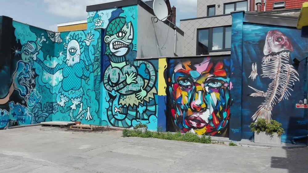 Een deel van de Cool Wall.