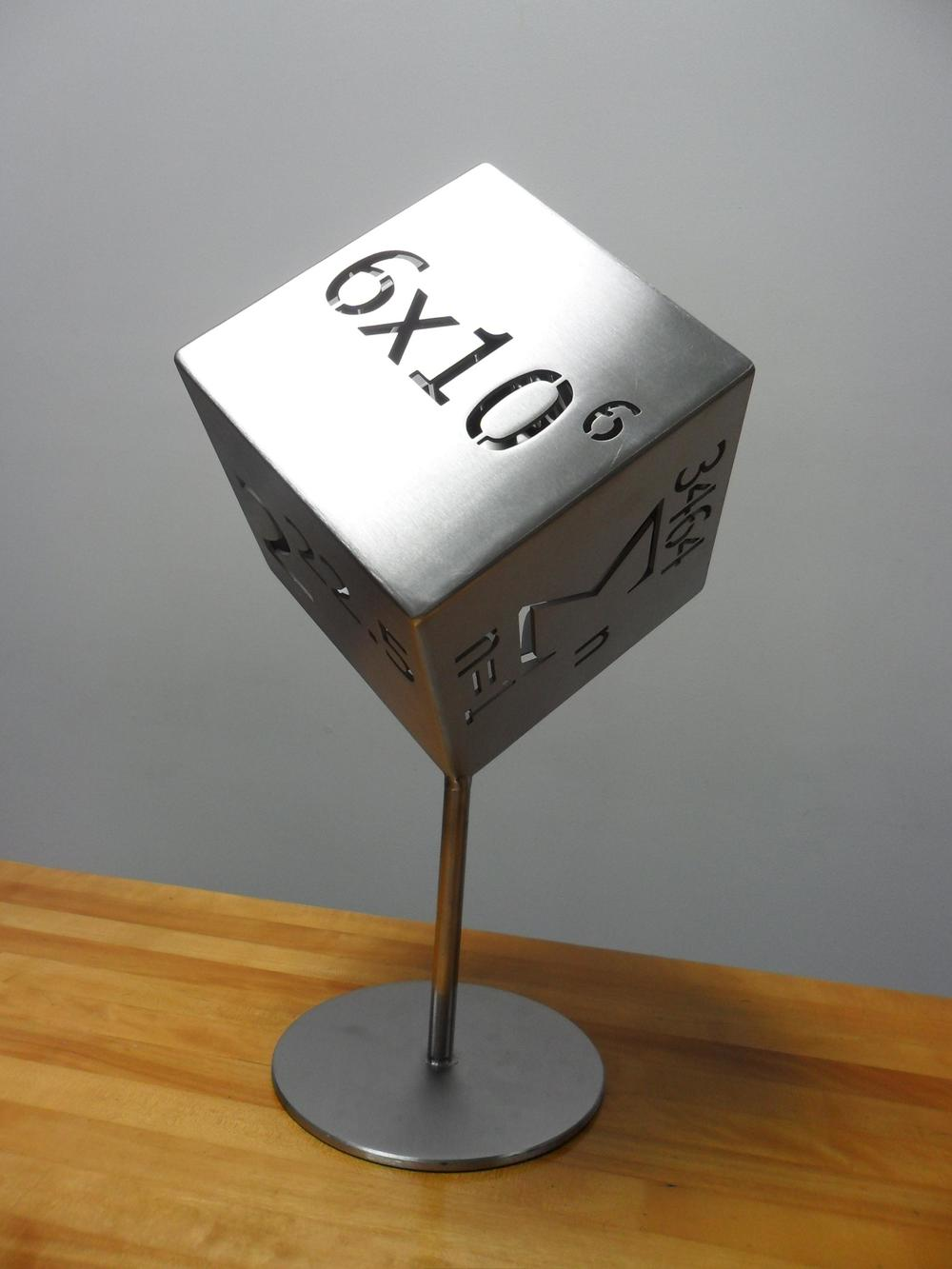 STAINLESS STEEL CUBE SCULPTURE