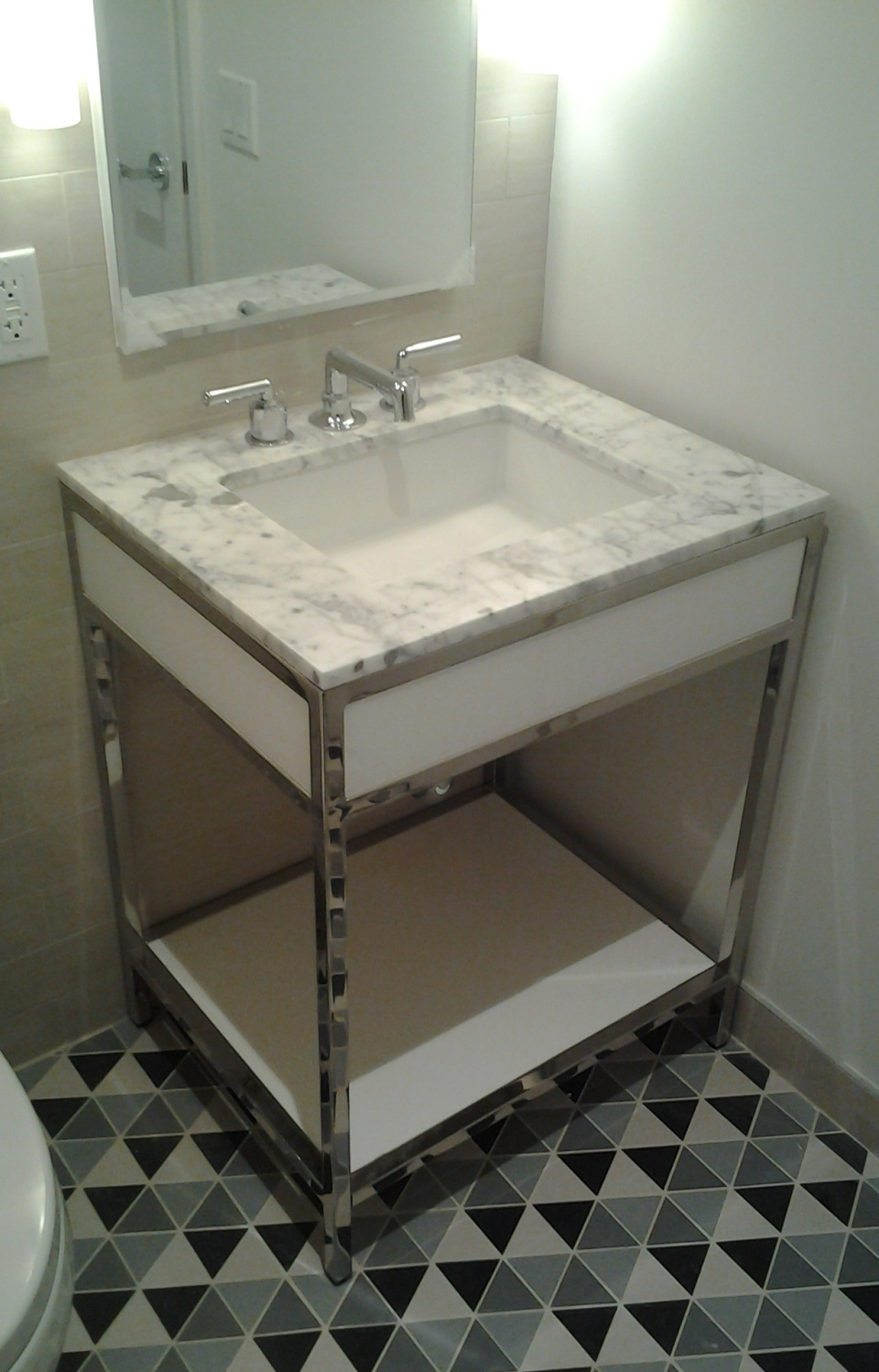Small Bathroom Vanity - Mirror Finish