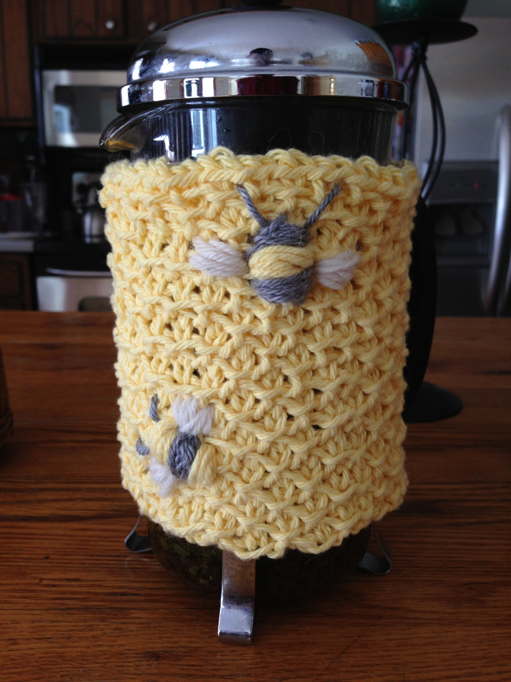 Tunisian Crocheted French Press Cozy