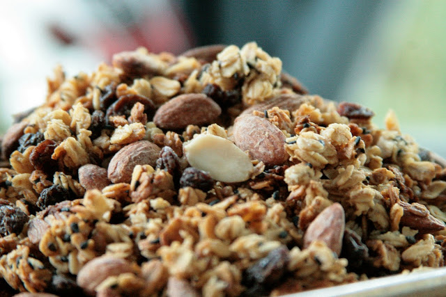 Black  sesame seeds are pictured in today's batch of Great Day Granola.