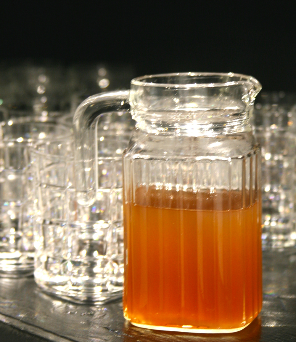 Fresh ginger from your pantry creates a syrup that adds interest to the bar.  Use it for special holiday cocktails including a Fresh Ginger Cocktail with no alcohol.