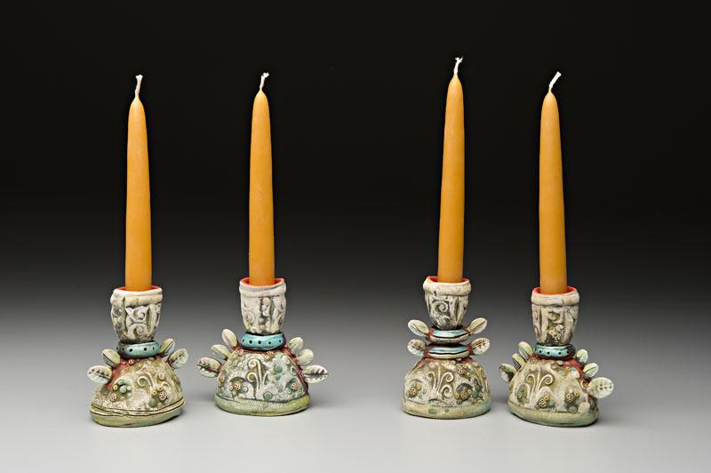 Four Single Candlesticks