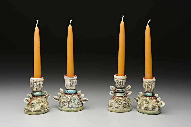 Four Single Candlesticks