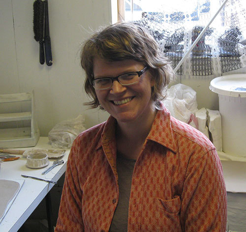 Jennifer Anable in her studio