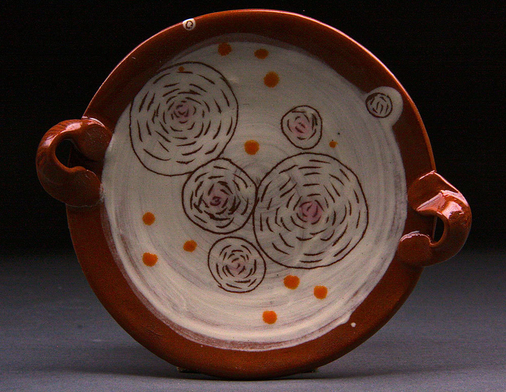 Spice Plate with Handles and Circles