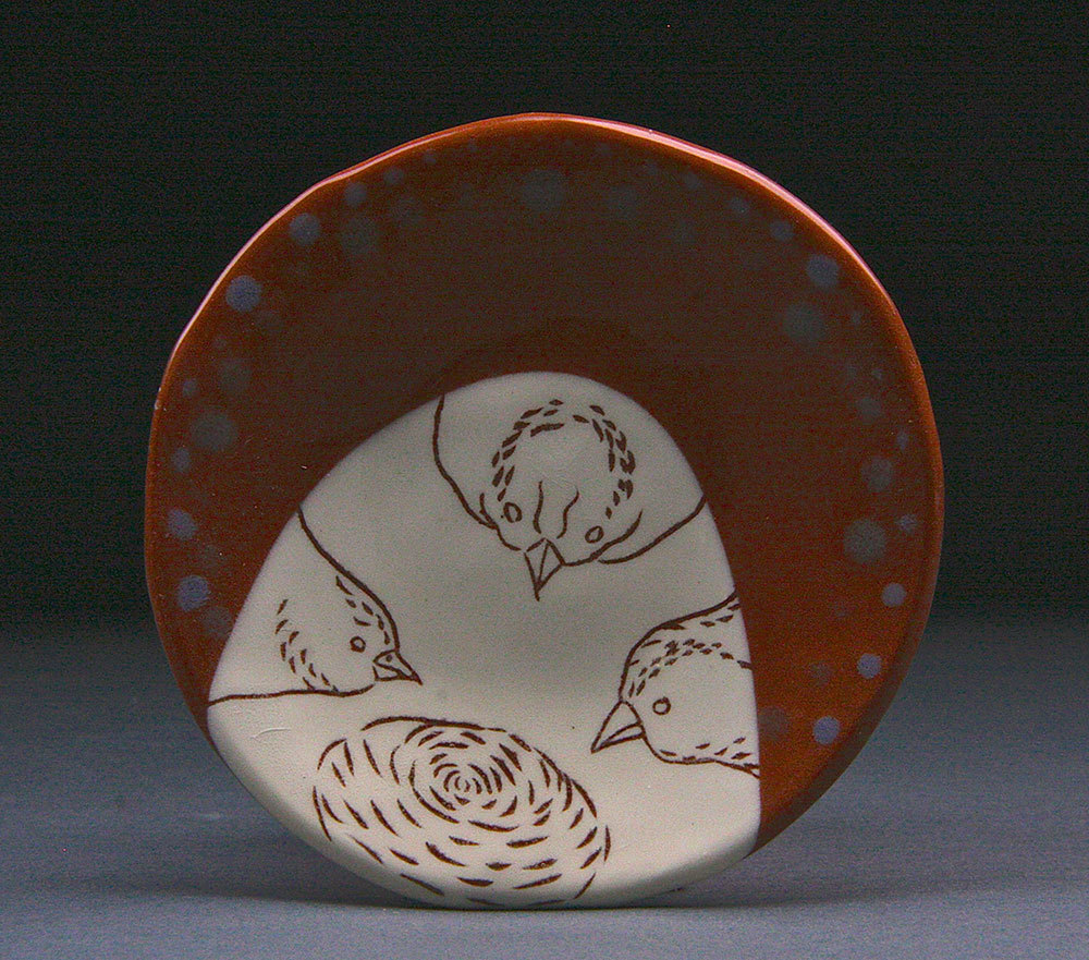 Spice Plate with Birds
