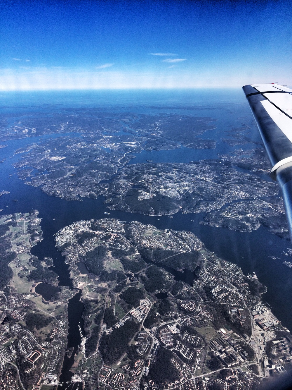 A picture shortly before we were landing in Stockholm